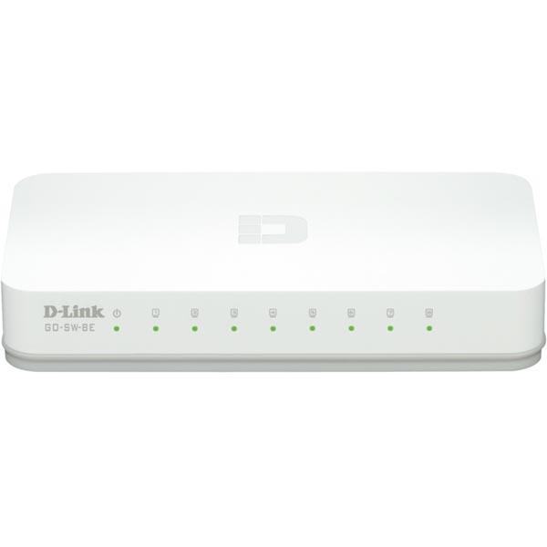 D-Link Fast Ethernet Easy Desktop Switch, 8-port 10/100 Mbps, vit