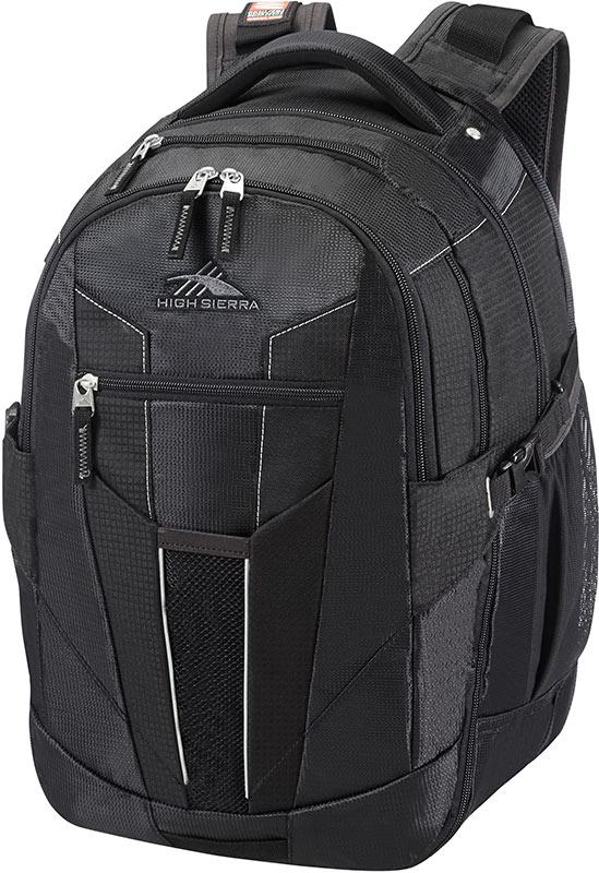 High Sierra Sportive XBT2 Office Exp Lpt Bkp Black