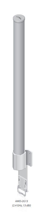Ubiquiti 2.4GHz dual omni 13dBi 116cm pipe diam max 87mm