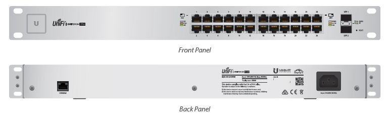 Unifi Switch 24 GE ports 500W passive POE af-at-passive24