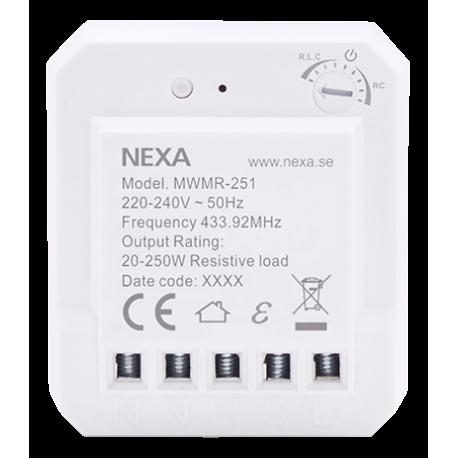 NEXA MWMR-251 Dosdimmer, ställbar lägsta dimmernivå, smart mode, vit