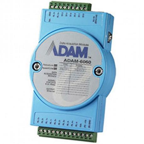 Advantech ADAM-6060 6-ch DI, 6-ch RL Eth Smart I/O