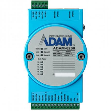 Advantech ADAM 6260 - 6 ch Relay OUT