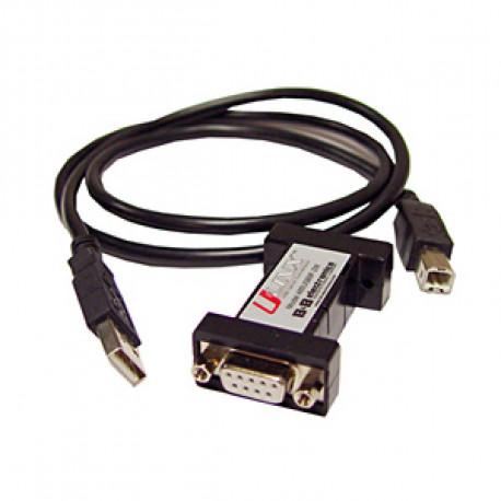 B+B U-Linx USB-Serie 1 port RS485 2 wire DB9f LS