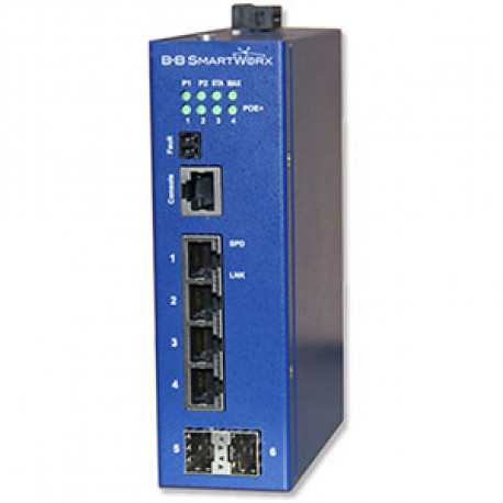 Advantech B+B Manag Eth Switch 4 PoE + 2 SFP Giga