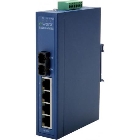 Advantech B+B eWorx Ethernet Switch 4 + 1 FX MM SC