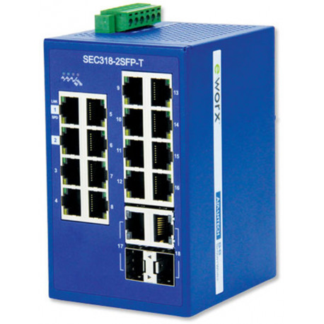 B+B eWorx Monitored Ethernet Switch 16 +2 Gig SFP