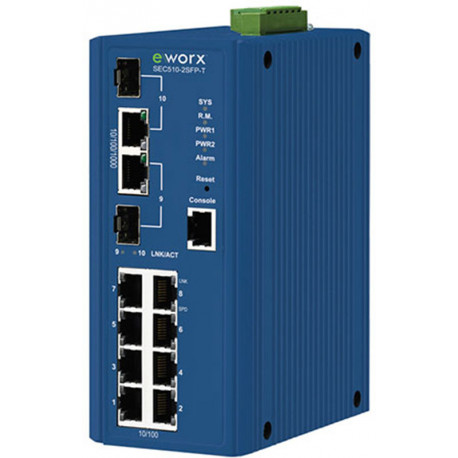 B+B eWorx Managed Ethernet Switch 8 + 2 Gig SFP