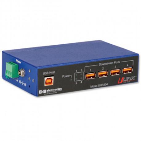 B+B U-Linx USB Hub 4 port Industriell Isolerad 4KV
