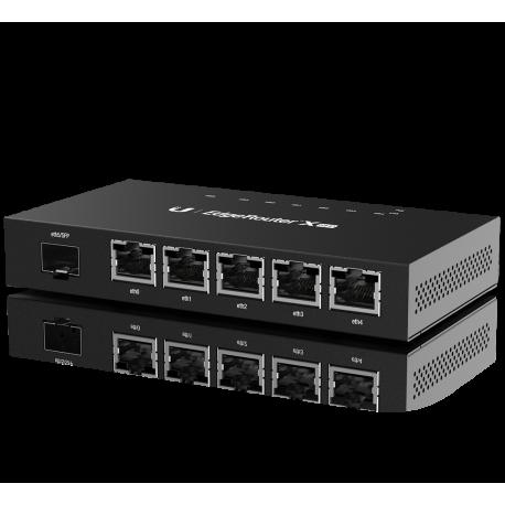 Ubiquiti EdgeRouter X, 5-portar, SFP, Gigabit, Passiv PoE, svart