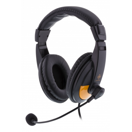DELTACO GAMING GAM-012 Stereo Gaming Headset, 2x 3,5mm, svart/orange