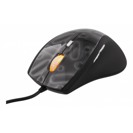 DELTACO GAMING optisk mus, 500-1600 DPI, 6 knappar, scrollhjul, USB 2.
