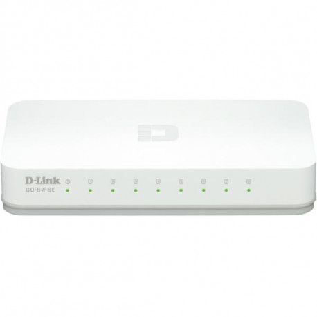 D-Link Fast Ethernet Easy Desktop Switch, 8-port 10/100 Mbps, vit