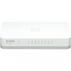 D-link 8-Port Gigabit Easy Desktop Switch, 8-port 10/100/1000Mbps, vit
