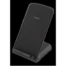 DELTACO Trådlös QI snabbladdare med vinklat stativ Tillbehör mobila enheter