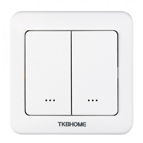 TKB Home Wallswitch with Dual Paddle