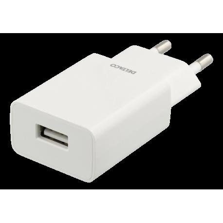Väggladdare 240V till 5V USB 1A vit