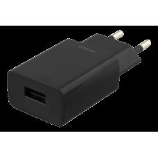 DELTACO Väggladdare 100-240V till 5V USB, 1A, 5W, 1xUSB-A port, svart Strömförsörjning