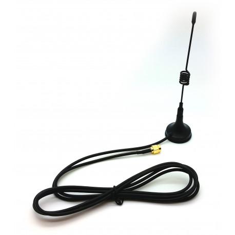 Magnetfotsantenn för 433MHz 1,5m kabel SMA-hane
