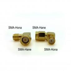 Adapter SMA-hane till SMA-hona, vinklad