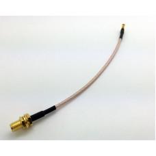 Adapter SMA-hona till MMCX-hona vinklad Mobilt bredband