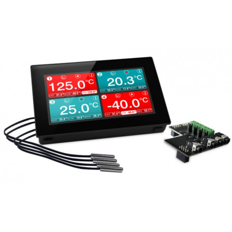 Panel Mountable Four-Channel Temperature Data Logger