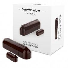 Fibaro Door/Window Sensor 2 - Dark Brown Hemautomation