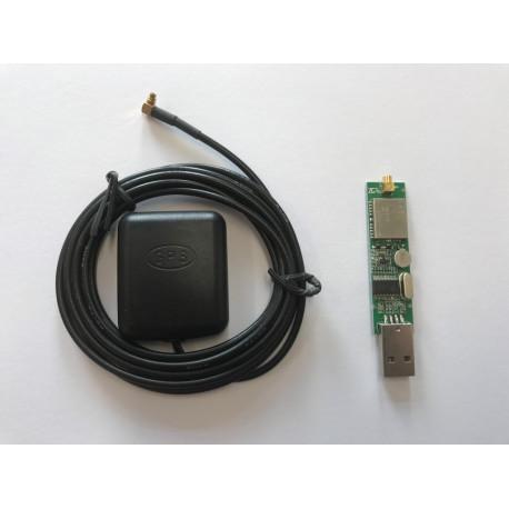 GPS-modul med USB-gränssnitt inkl. magnetfotsantenn