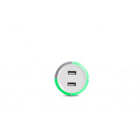 Capidi vit 2-port USB-laddare med säkerhetstimer