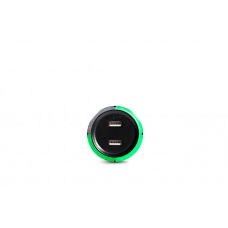 Capidi svart 2-port USB-laddare med säkerhetstimer