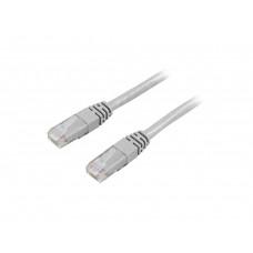 DELTACO U/UTP Cat6a patchkabel, LSZH, 0,5m, grå Nätverkskablar