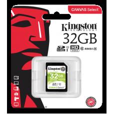 Kingston Canvas Select SDHC-kort, 16GB, UHS-I Klass 10, svart Datalagring