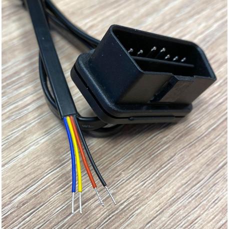 OBD-kabel med lösa kabeländar för användning med H-CAN