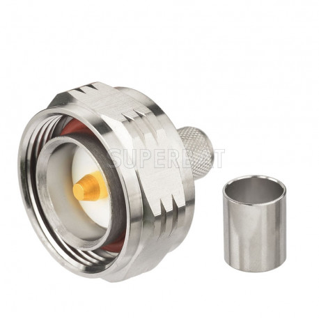 7/16 DIN-hane med o-ring LMR400 crimp kontakt