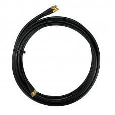 Antennkabel WiFi RP-SMA-hane till SMA-hona dubbel Low-Loss 2x3 m TWIN-kabel (LMR195) Mobilt bredband