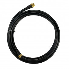 Antennkabel WiFi RP-SMA-hane till SMA-hona dubbel Low-Loss 2x5 m TWIN-kabel (LMR195) Mobilt bredband