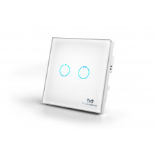 Touch Panel Switch 2 Buttons 1100W Hemautomation