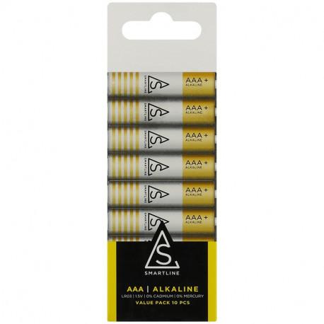 Alkaliska batterier AAA LR3 1,5V 10-PACK