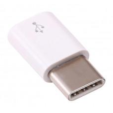 Raspberry Pi 4 Micro-USB-hona till USB-C-hane adapter, vit Dator & Elektronik