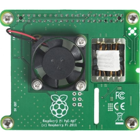 Power over Ethernet (PoE) HAT för Raspberry Pi 3 Model B+