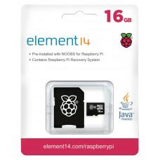 MicroSDHC kort, klass 10, 16 GB, Raspberry Pi förladdat med NOOBS MicroSD Cards Dator & Elektronik