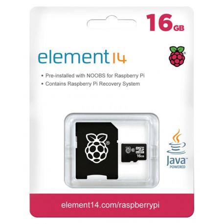 MicroSDHC kort, klass 10, 16 GB, Raspberry Pi förladdat med NOOBS MicroSD Cards