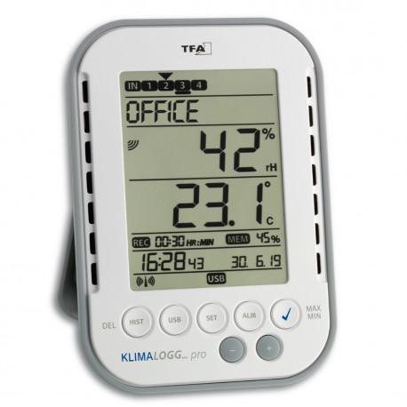 TFA Klimalogg PRO, professionell temperatur och luftfuktighetssensor med loggfunktion
