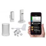 TFA Weatherhub Temperaturvakt - Starter-kit med regnmätare, vindmätare och temperatur / luftfuktighetssensor