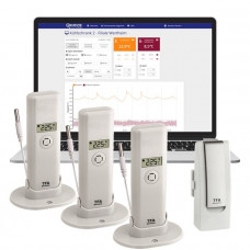 TFA Weatherhub Temperaturvakt - Starter-kit med tre stycken temperatursensorer med vattentät prob