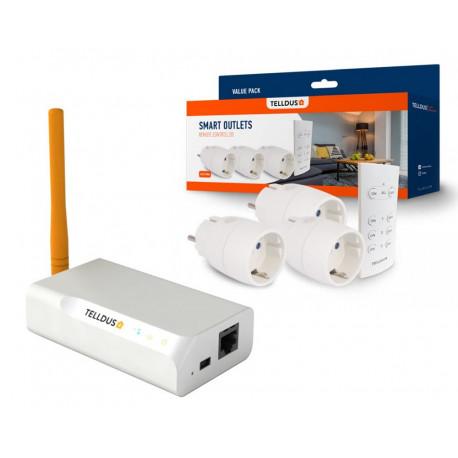 Telldus ZNet Lite V2 & Smala pluggar med fjärrkontroll