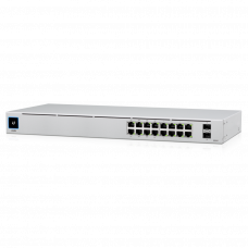 UniFi 16Port Gigabit Switch with PoE and SFP Switchar