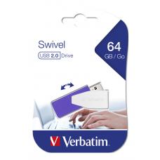 USB DRIVE 2.0 STORE N GO SWIVEL 64GB VIOLET Dator & Elektronik