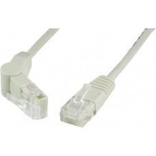 Nätverkskabel UTP Cat5e med en vinkelbar kontakt, 0,5m, grå Nätverkskablar