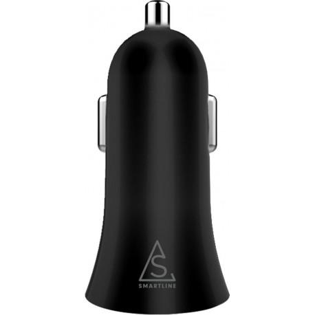 Snabbladdare till mobilen i bilen med 2st USB-uttag svart 4.8A